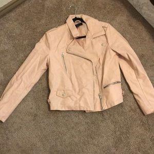 Dusty pink leather jacket